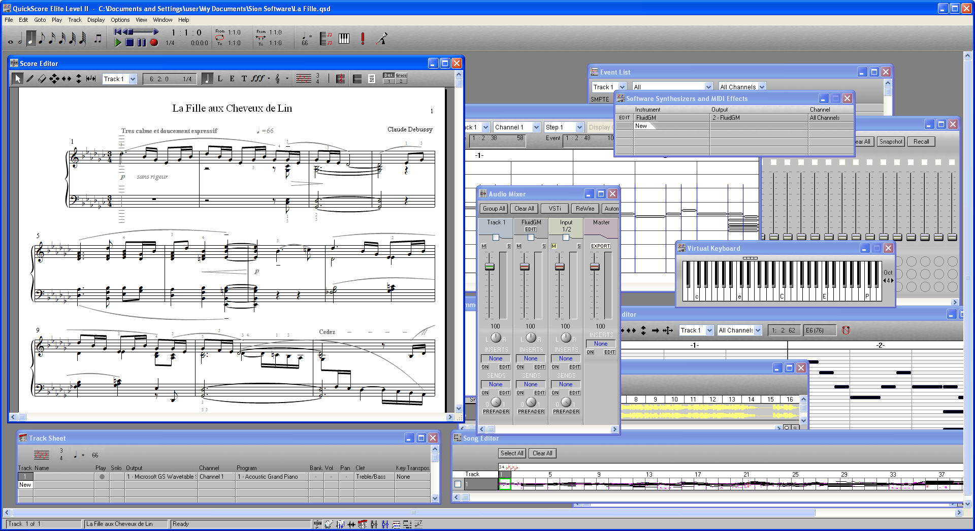 Comprehensive, integrated music composition and notation software.